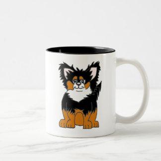 チワワの子犬のマグ ツートーンマグカップ
