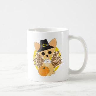 チワワの感謝祭 コーヒーマグカップ