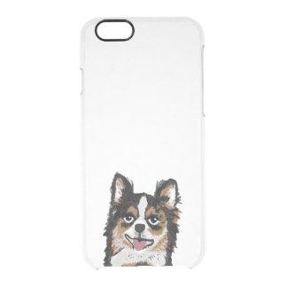 チワワのiphoneの場合-犬の澄んな例 クリアiPhone 6/6Sケース