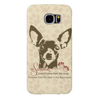 チワワ犬私の日光 SAMSUNG GALAXY S6 ケース
