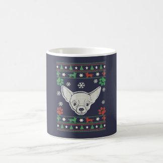 チワワ-クリスマス コーヒーマグカップ