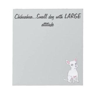 チワワ。大きい態度の小さい犬 ノートパッド
