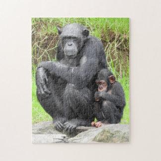 チンパンジーのパズル ジグソーパズル