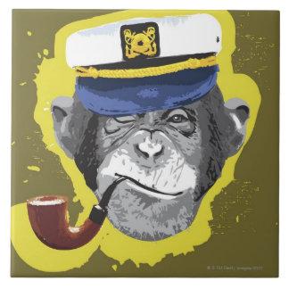 チンパンジーの喫煙管 タイル