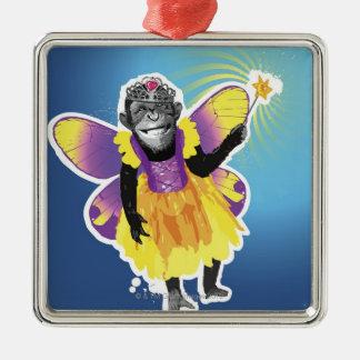 チンパンジーの妖精 メタルオーナメント