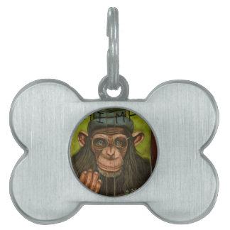 チンパンジーの本 ペットネームタグ