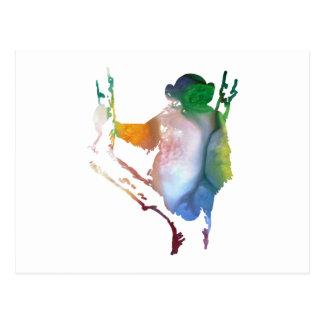 チンパンジーの芸術 ポストカード