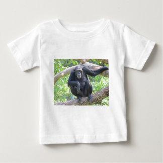 チンパンジーの衣類 ベビーTシャツ