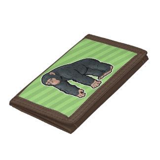 チンパンジー ナイロン三つ折りウォレット