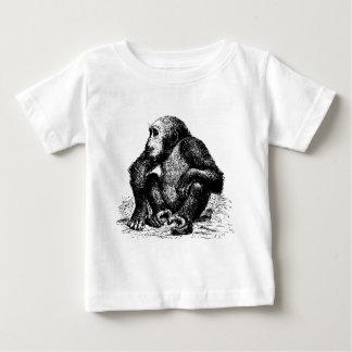 チンパンジー ベビーTシャツ