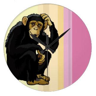 チンパンジー ラージ壁時計