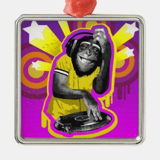 チンパンジーDJ メタルオーナメント