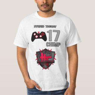 チンパンジーhT -雑種理論ジャージー(価値版) Tシャツ