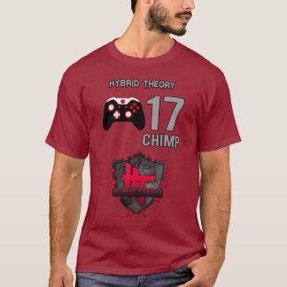 チンパンジーhT -雑種理論ジャージー(長袖) Tシャツ