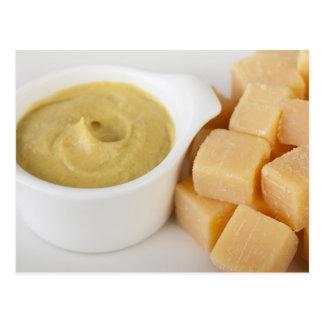 チーズおよびマスタード ポストカード