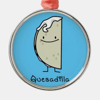 チーズが付いているQuesadillaのメキシコ人によって焼かれるトーティーヤ メタルオーナメント