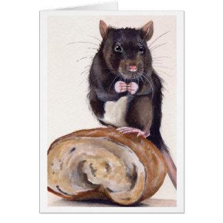 チーズはどこにありますか。 水彩画で絵を描かれる カード