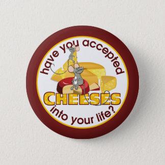 チーズを受け入れましたか。 5.7CM 丸型バッジ