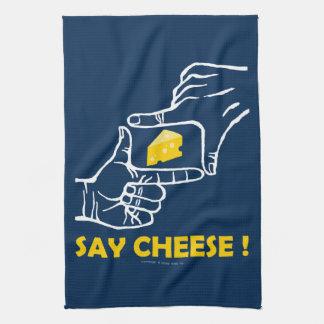 チーズを言って下さい キッチンタオル
