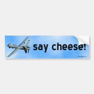 チーズを言って下さい! バンパーステッカー