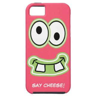 チーズを言って下さい! 間抜けでかわいいモンスターIphoneは直面します iPhone SE/5/5s ケース