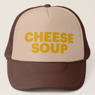 チーズスープおもしろいのスローガンのトラック運転手の帽子 キャップ