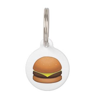 チーズハンバーガー- Emoji ペット ネームタグ