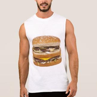 チーズバーガーの二重ファースト・フード 袖なしシャツ