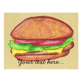 チーズバーガーの郵便はがき ポストカード