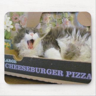 チーズバーガーピザおよび昼寝 マウスパッド