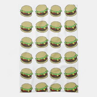 チーズバーガー キッチンタオル