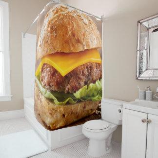 チーズバーガー!!! チーズバーガー!!   チーズバーガー!!!! シャワーカーテン