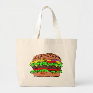 チーズバーガー ラージトートバッグ