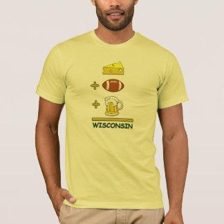 チーズフットボールビールウィスコンシン Tシャツ