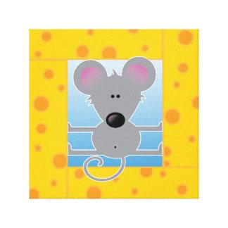 チーズブロックのマウス キャンバスプリント