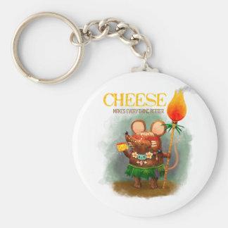チーズ愛情のある洞窟のマウス キーホルダー