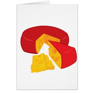 チーズ挨拶状の車輪 カード