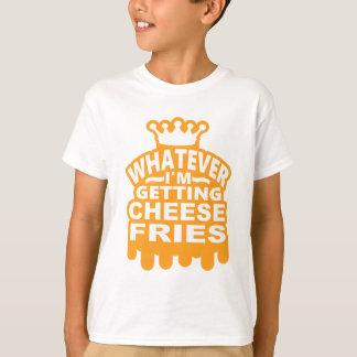 チーズ揚げ物 Tシャツ