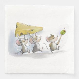 チーズ(オリーブと)紙ナプキンを持って来ること