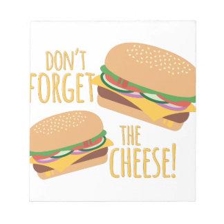 チーズ ノートパッド