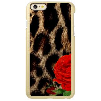 チータおよび赤いバラ INCIPIO FEATHER SHINE iPhone 6 PLUSケース