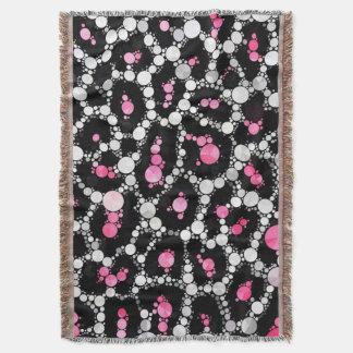 チータきらきら光るなパターン芸術のカスタムのブランケット 毛布