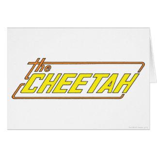 チータのロゴ グリーティングカード