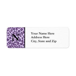 チータの宛名ラベル(紫色) ラベル