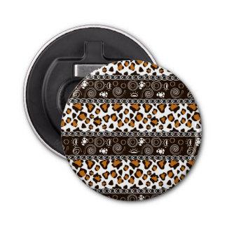 チータの皮パターンが付いているアフリカのプリント 栓抜き