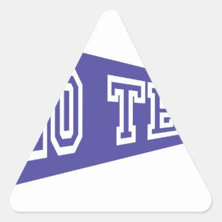 チームは行きます 三角形シール