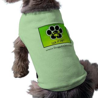 チームべたつく物の小犬のティー ペット服