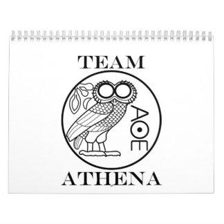 チームアテーナー(彫刻家のフォント) カレンダー