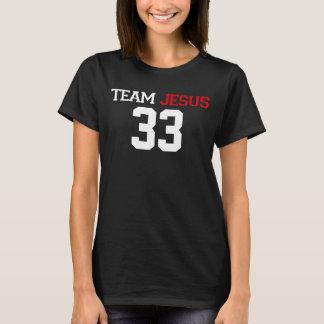 チームイエス・キリスト33の黒いティー Tシャツ