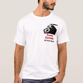 チームカナダ24の時間山の一輪車 Tシャツ